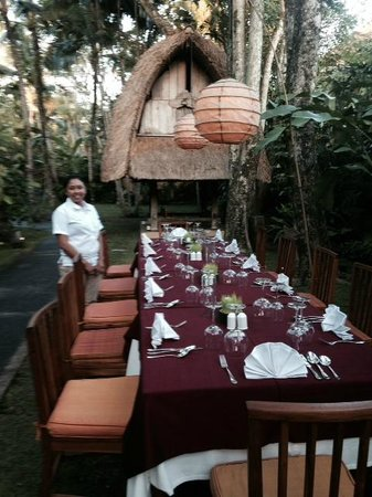 Komaneka at Monkey Forest: The dining staff spoiled our group in every way!