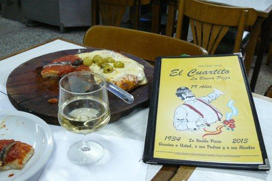 El Cuartito: our pizza