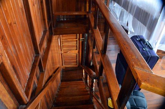 Ladera Resort: stairway from upstairs