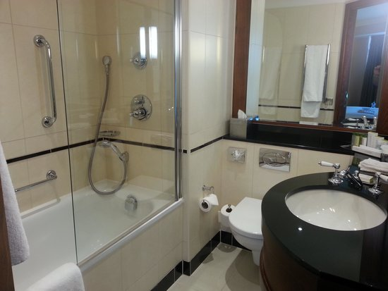 DoubleTree by Hilton Hotel Newcastle International Airport: Room 165 bathroom.