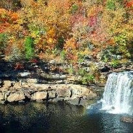 Fort Payne, AL: Little River Falls on Hwy 35 below Canyon Center in the Fall