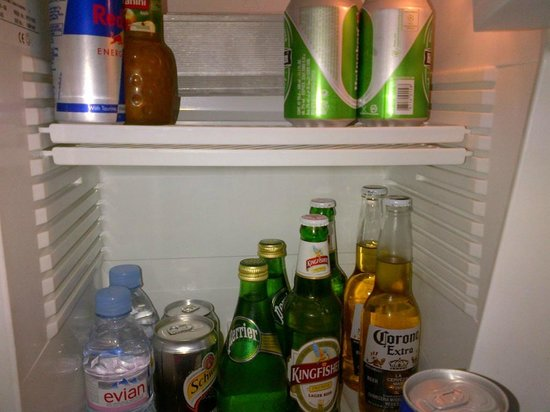 Shangri-La's Eros Hotel: fridge items too costly