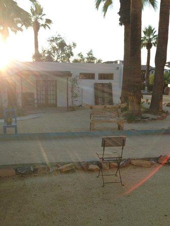 Korakia Pensione : grounds at dawn