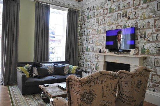 The Rutland Hotel: Living area