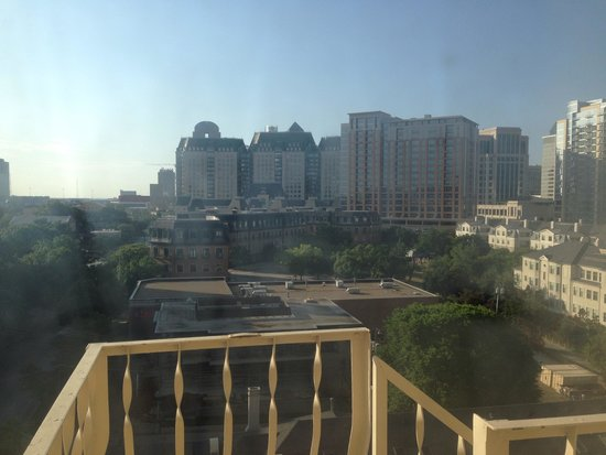 Le Meridien Dallas, The Stoneleigh: View out of bathroom window