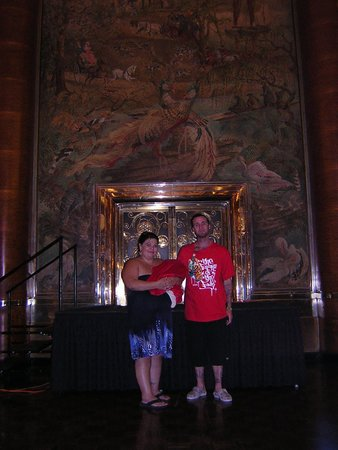 The Queen Mary: To give idea of how tall the ceiling is in the ball room