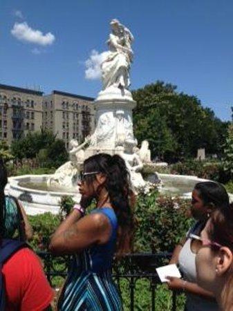 Bronx Historical Tours: The Lorelei fountain in Joyce Kilmer Park