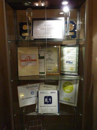 BEST WESTERN Krakow Old Town : Hotel awards and comendations