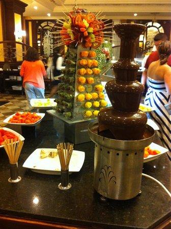 Hotel Riu Palace Aruba : Chocolade fontein