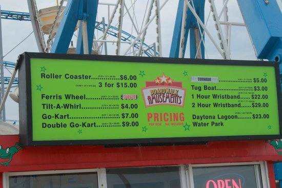 Beach at Daytona Beach: Price list