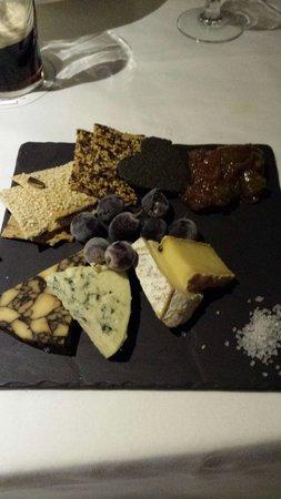 The Bushmills Inn Restaurant: Selezione di formaggi di capra