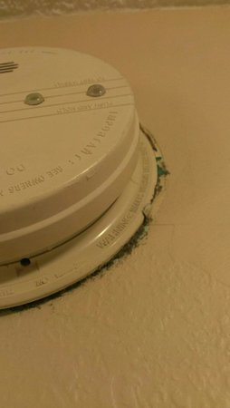 Days Inn & Suites Richfield: This was around smoke detector. Can't be safe...