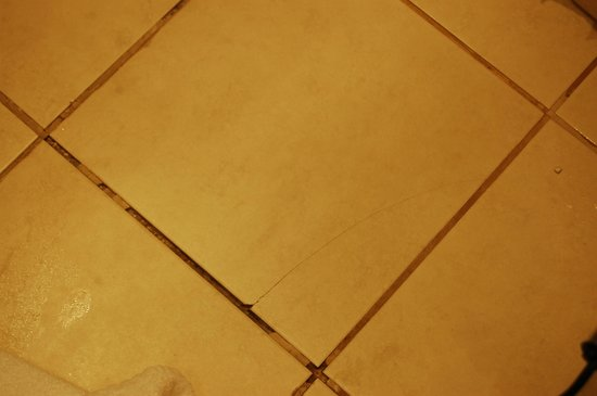 The Clifton Hotel - Scarborough: another broken tile