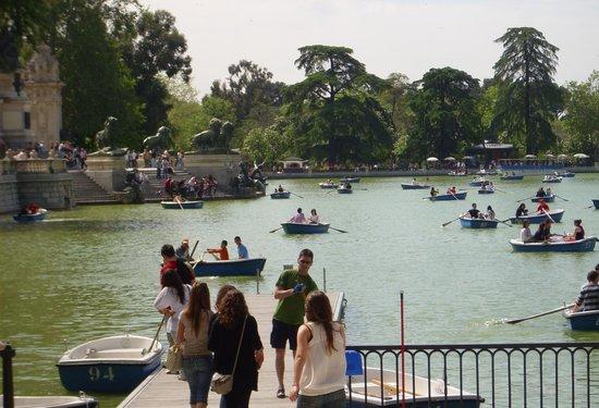 Parque del Retiro: Las tipicas barcas