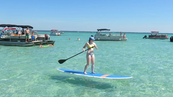 Paddleboarding At Crab Island Picture Of Luther S Pontoon
