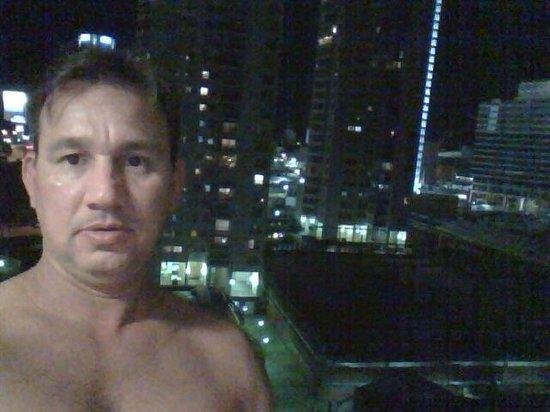 Palladium Business Hotel: Vista da janela do nosso apartamento no 10º andar