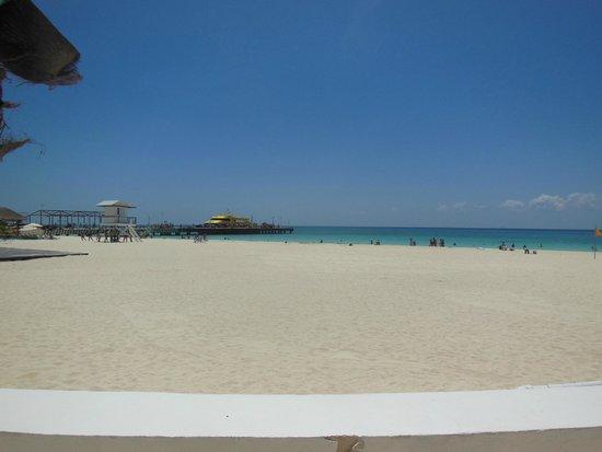 Playacar Palace: zona de la playa