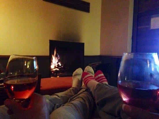 Hotel Rodavento: The woodburning fireplace.  :)