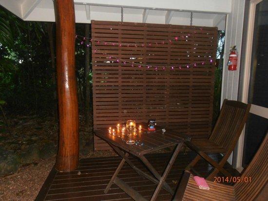 Eco Village Resort Mission Beach : our little deck area