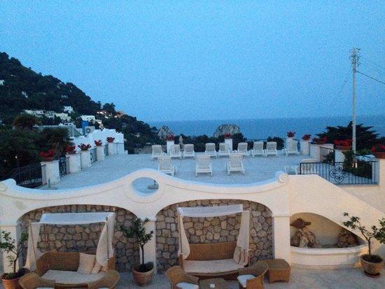 La Residenza Capri: 2階のレストランからの眺め