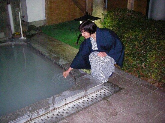 Fuji-Hakone Guest House: Our-door bath in January