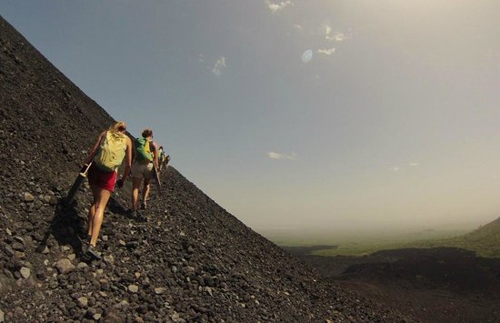 Cerro Negro Volcano: hike up