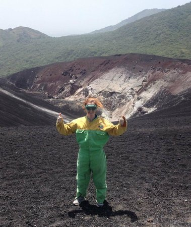 Cerro Negro Volcano: geared up and ready to go