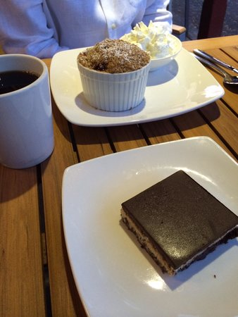 Wendel's Bookstore & Cafe : Nanaimo Bar made with coconut instead of cream, and berry cobbler with cranberries, raspberries
