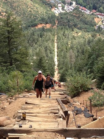 Manitou Springs Incline: View from the half - way point