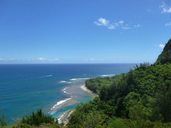 Kalalau Trail: Tunnels Beach view