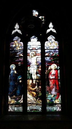 Cathedral of St. Helena: Beautiful stained glass windows