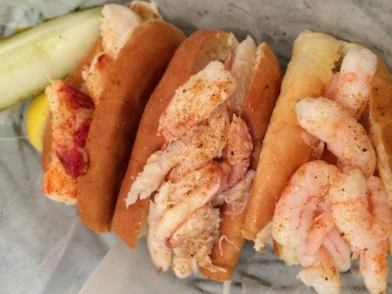 Clawdaddy's: Sampler Lobster, Crab, and Shrimp Rolls