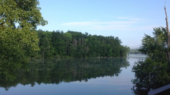Black Swan Inn Berkshires, an Ascend Collection Hotel: The view of Laurel Lake from the Hotel Rooms at Black Swan Inn!
