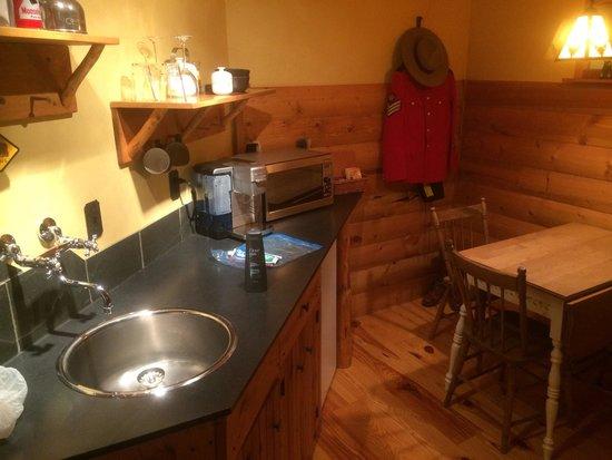 Bear Necessities B&B: Sink, fridge, microwave, coffee maker