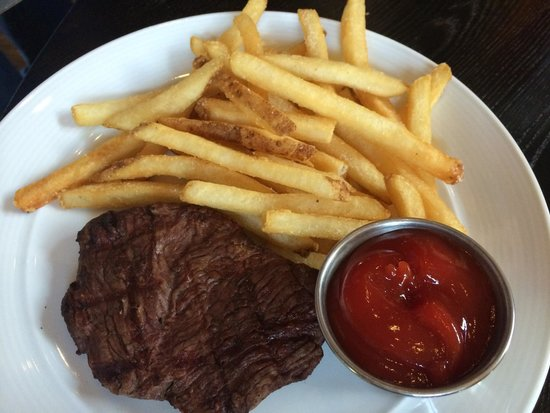 Hayden's Post: Kids menu steak and fries