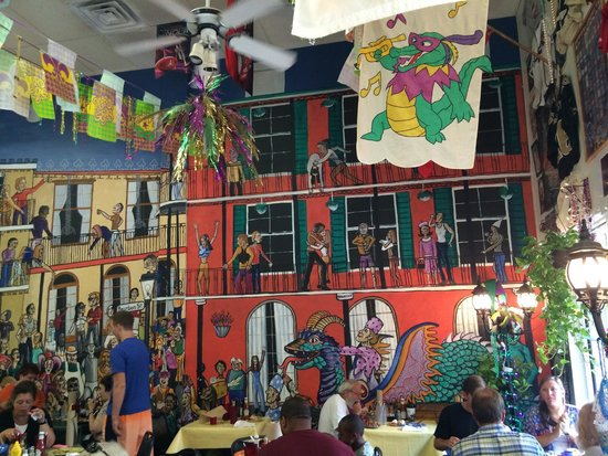 Kenny B's French Quarter Cafe : Their really cool mural.