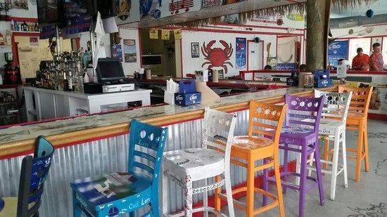 Tim's at Lake Anna: Painted bar stools