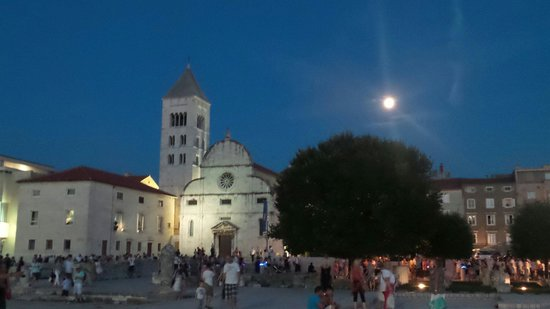 Zadar Cathedral: The day of the full moon festival 2014.