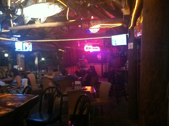 Snook Inn : restaurant has outdoor and indoor seating