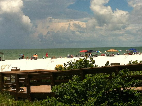 South Marco Beach: view from walkway
