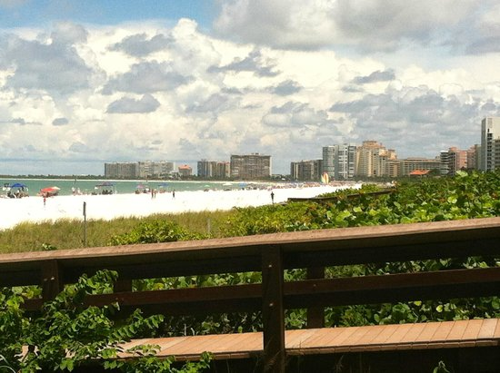 South Marco Beach: view from the walkway
