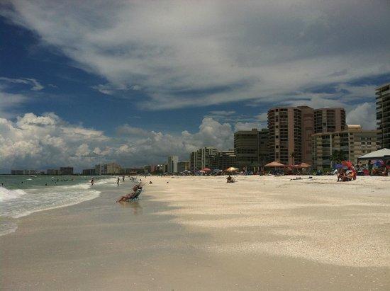South Marco Beach: high rises along the beach