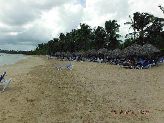Grand Bahia Principe El Portillo : Plage côté droit