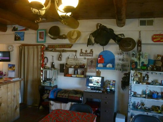 Silver Saddle Motel: More of the items hanging in the office area.