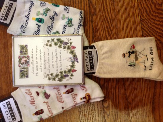 Socks & art for wine lovers, Pat Craig Studios