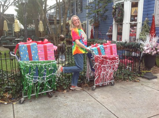 Holiday Shop-The-Block decorations, Pat Craig Studios