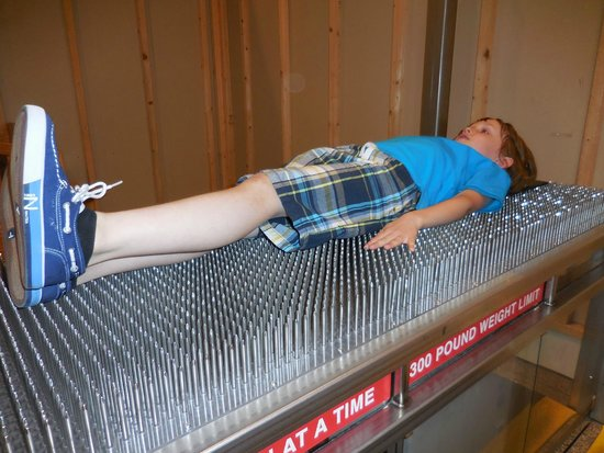 Museum of Science: Enjoyable bed of nails :)