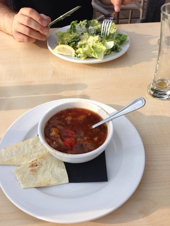 Starboard Grill: Soup of the day and salad