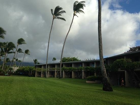 Napili Shores Maui by Outrigger : The evening before Hurrican Iselle was to hit Maui. This is the view of our building from the la