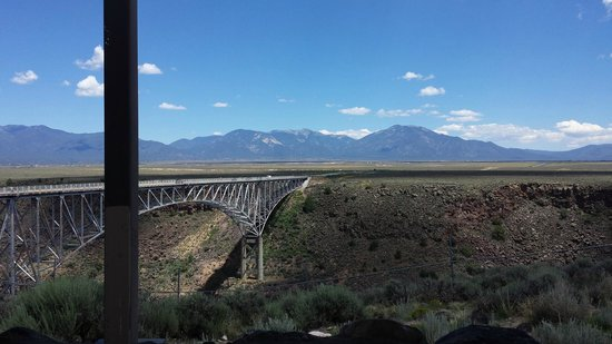 Rio Grande Gorge Bridge : Another view, showing some of the flat land surrounding the bridge.